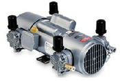 Gast Piston Air Compressors; Oil-Less Piston Air Compressors High Pressure: 0 - 100 PSI