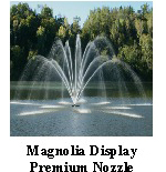 Magnolia Display - premium nozzle - Aerating Fountain