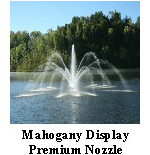 Mahogany Display - premium nozzle - Aerating Fountain