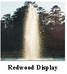 Redwood display Aerating Fountain