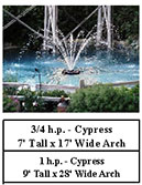 Kasco J series aerating fountains - cypress