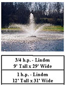 Kasco J series aerating fountains - linden