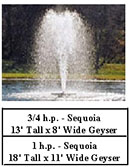Kasco J series aerating fountains - Sequoia